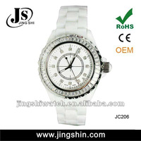 JC206 vogue cermic diamond quartz watch for women