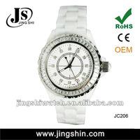 JC206 vogue cermic diamond quartz watch for women