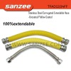 Stainless Steel Corrugated Extendable Hose -Uncoated /Yellow Coated