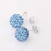 shamballa crystal ball earrings