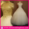 LV10226 Strapless with jacket Sweetheart Ball gown Floor length Champel train with hand made bow beaded lace bridal dress