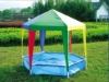 like kid's playhouse in garden canopy tent