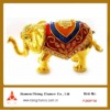 color painted Indian style elephant shape metal casket