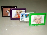 fashional colorful acrylic picture photo frame with screw stand