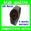 HOT Sell Unisex Attractive Design Sport Digital Red LED Metal Lava Samurai Bracelet Wrist Watch Mirror Dial