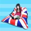 English flag printing living room chair