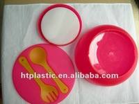 Plastic Salad Bowl Fork Spoon Set