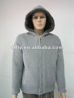 trendy jacquard thick winter hoody sweater for men