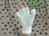 plain pure white knitting pattern velour magic gloves