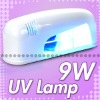 Professional 9W UV Gel Nail Art Polish Curing Lamp Light Tube White Dryer w Bulb