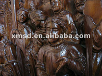 wood carving statue and sculpture altar of religion story