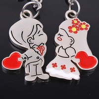 Lovers mobile phone chain(golden wedding couple)