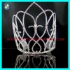 Wholesale rhinestone wedding tall pageant crown tiara