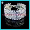 Cuff bracelet.crystal cuff bracelet.silver cuff bracelet