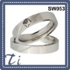 High quality stainless steel square diamond ring