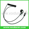 Mono earphone for two way radio speaker mic