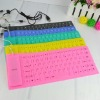 2012 fashion design durable silicone rubber keyboard