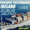 Shanghai/China to IRELAND sea shipping/FCL/LCL, Shanghai/China to BELFAST, CORK, DUBLIN sea shipping/FCL/LCL