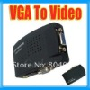 PC DVD S-Video AV to VGA Monitor Converter Adapter NEW