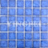 Factory Supply hot sale swimming pool tile blue mosaic with natural kiln pattern Y4822
