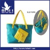 2012 zipper handbag tote gift promotional bag lady shoulder bag bright color shopping bag made of nylon