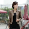 2012 Lady's Leather Jacket with stand collar Cameo