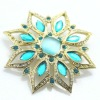 Big diamond charming gold fashion jewelry charm brooch