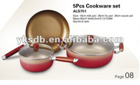 Non-stick aluminum colorful Ceramic sauce sets