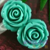 natural turquoise stone carved flower pendants