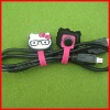 new cute cat style generic plastic earphone cord cable winder