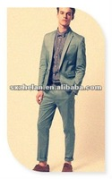 Fashion style skinny fit suit blazer and chino suit pants for men