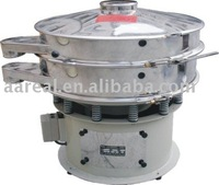 Ultrasonic vibratory screen for carbon powders