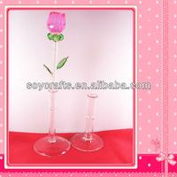 colorful crystal flower rose