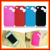 the newest Cute Models Hello Kitty Silicone back cover for iphone 4S (SI07)