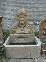 Lion Head Wall Fountain Carving(ASF-B003)
