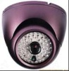 CCTV IR Color CCD Dome Camera with 1/3-inch Sony Effio 650TVL, OSD Menu, Aluminum Housing