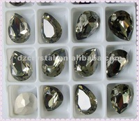 4320 Fancy Pear black diamond 14x10mm