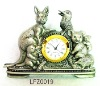 Bronze Animal metal clock craft LFZ0019