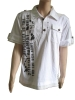 White Fashion Polo t-shirt with fashion print and embroidery
