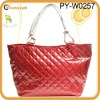 patent pvc quilted beach bag