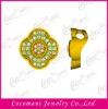Brass zircon jewelry pendant
