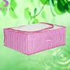 Striped pink under the bed storage bags