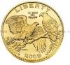 2012 pigeons liberty token gold coin