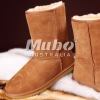 Lady sheepskin boot shoes