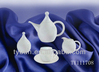 fine white china tea set