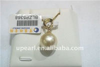 Upearl 12.5-13 mm sea water pearl pendant with 18K chain and fashion style pearl jewelry