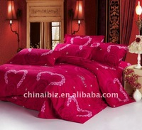 wedding usage 100% cotton 4pcs bedding set friendly-skin