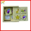 Wooden Square Animal farm Domino toy for baby eductional