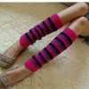 lady fashion stripe leg warmers
