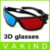 Red Blue Plastic Framed 3D Vision Glasses
